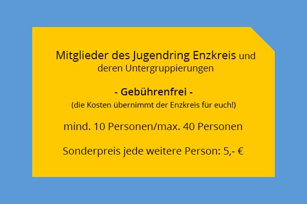 Jugendring Enzkreis - mobile Testteams - Kosten - Jugendring Enzkreis